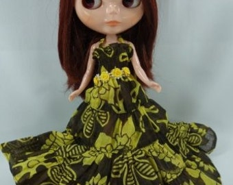 Handmade Outfit dress for Blythe doll costume dress  D-35