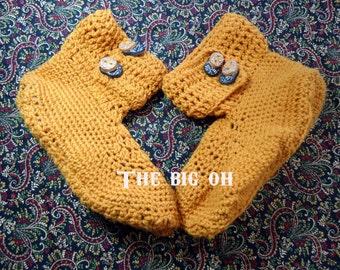 Adult Hand Crochet Slipper Booties