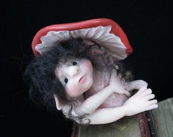 LeafDweller Earth Defender Elf 'Yvonn't' OOAK Sculpt by Sculpture Artist Ann Galvin