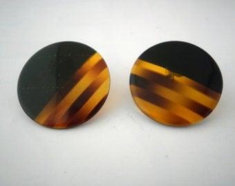 Vintage Round Stud Earrings