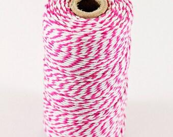 Baker's Twine Spool - White/Dark Pink