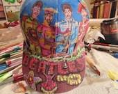 Sgt Pepper Baseball cap, Hand painted OOAK,Beatles