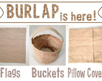"""Blank 18x18"""" Burlap Pillow Cover   for DIY HTV Embroidery Stencil & Paint Monogram Personalize Decorative Case Wedding Seasonal Holiday Gift"""