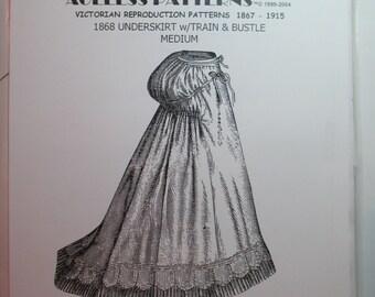 Ageless Patterns #1517 - 1868 underskirt w/train & bustle - medium