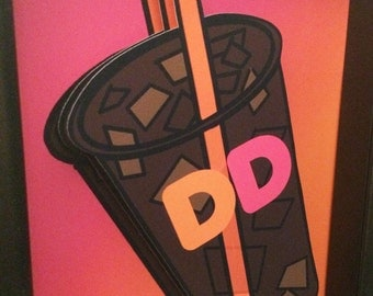 Dunkin Donuts Kitchen Art Dunkin Donuts Ice Coffee  3D Pop Artwork