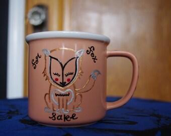 Pink Retro Style Coffee Mug Oh For Fox Sake