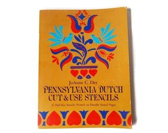 Pennsylvania Dutch Cut Out Reusable Wall Stencils - Book of Generous Lot