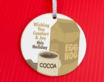 Christmas Ornament - Comfort and Joy Ornament - Christmas Ornament - Fun Gift ornament - Holiday Sweets - co103