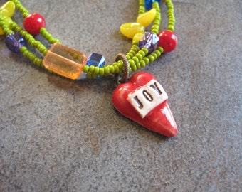 JOYFUL HEART Multi Colored Joy Heart Necklace