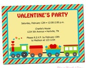 PRINTABLE Valentine's Day Train Party Invitations
