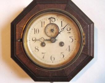 Octagon Wall Clock Etsy