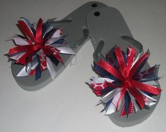One Pair Ribbon Embellished Flip Flops