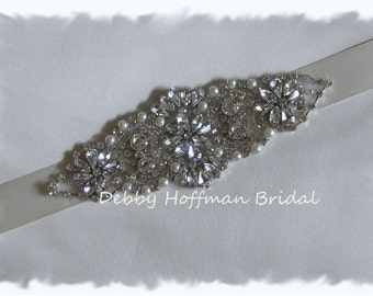 Rhinestone Crystal Pearl Beaded Bridal Headband, Pearl Crystal Headpiece, Wedding Headband, No. 4067HB, Wedding Hair Accessories, Headband
