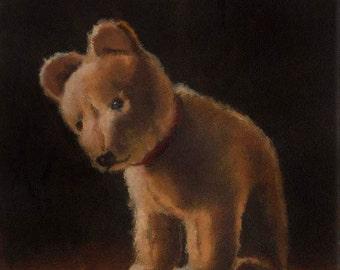 Vintage Bear Print - Vintage Steiff Print - Bear Portrait - Toy Art - Children's Art - Vintage Toy