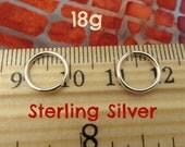 Sterling Silver 18g Tiny Endless Hoops