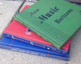 Three Vintage Childrens Music Books