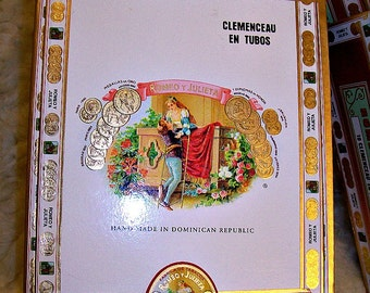 Cigar Box for crafting - Romeo Y Julieta - Clemenceau En Tubos - Empty Cigar Box