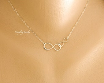 Mother Daughter necklace, Couple infinity Necklace, Mothers Day Gift from Daughter, His Her Jewelry, Sister, Valentines Gift for Mom