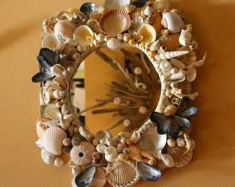 Coastal Shores Sea Shell Encrusted Mirror