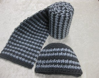 Houndstooth Scarf & Hat set - Made to Order