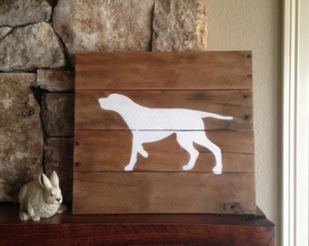 English Pointer Silhouette - Reclaimed Wood Sign