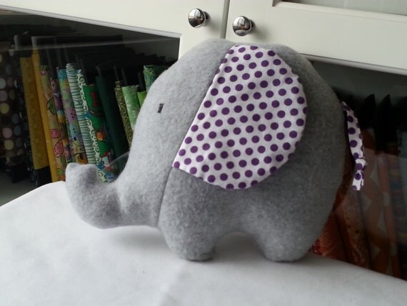 Stuffed Animal Elephant Pillow : Cute Plush Elephant Stuffed Animal Pillow Gray by christaa1974