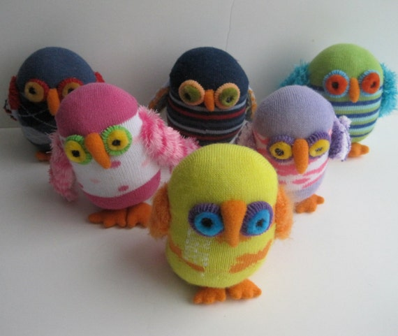 WHO-WHOSE personalized baby owlets, child safe sock toys are a perfect baby gift