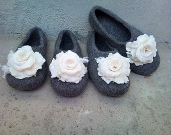 Felted slippers - women house shoes, felted slippers, handmade, made to order, Mother's day gift, Easter gift