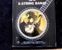 Rare Signed Earl Scruggs  and the Five String Banjo Book 1968 Hardcover with Dust jacket