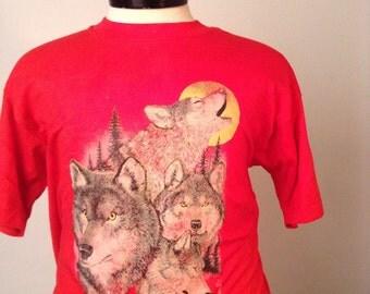 Vintage Howling Wolves Tshirt XL