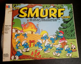 The Smurf Game - 1981 Vintage 3D Board Game Milton Bradley