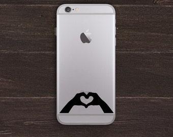 Heart Hands Vinyl iPhone Decal BAS-0215