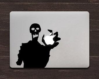 Zombie Apple Vinyl MacBook Decal BAS-0229