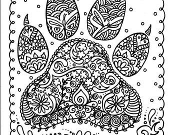 Animal Dogs Gift Idea Paws Print Dog Print Animal Art