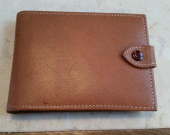 Vintatge Mark Cross Leather Manicure Case Snap Closure Slots Blue Leather Flap