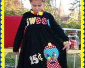 Gumball Machine Birthday Dress - Bubblegum 25 cents! - Infant Toddler Youth Girl sizes - You Choose Dress Color