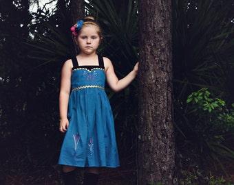 Frozen Elsa Dress,  Elsa's Coronation Day Dress inspired by Disney's Queen Elsa, sizes 2T-8girls