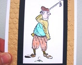 Old Man Golfer Greeting Card for any Occasion - Dad - Grandpa - Uncle - Brother - Boyfriend - Friend - Husband -