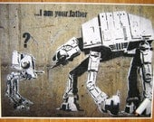 Banksy Poster - I Am Your Father  - Multiple Paper Sizes