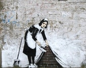 Banksy Art Print  - Sweep it Maid - Multiple Paper Sizes