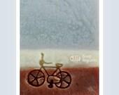 Small bike / Acrylic Soap Stamp ( Soap Republic )