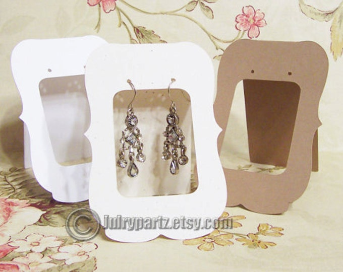 20•ZOE Window•2.5 x 3.5 inch•Tent Cards•EARRING CARDS•Jewelry Cards•Earring Display•Earring Card•Earring Holder