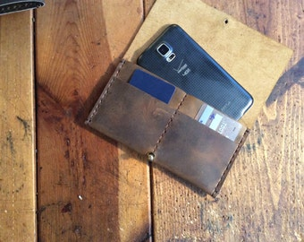 Cell phone card holder, Wallet cell phone case, Leather cell phone wallet, iPhone case with card holder, Smartphone wallet, iPhone card case