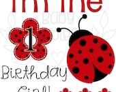 Personalized Ladybug Birthday Iron On Transfer Heat Transfer Birthday Iron On Birthday Girl Big Sister of the Birthday Girl Heat Transfer