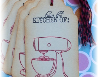 From the Kitchen of - Mixer - Baking - Gift/ Hang Tags (8)