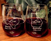 State Wine Glass - Wedding - Wedding Party - Personalized for you