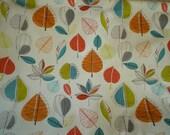 "Orange Fabric Blue Red Green Funky UK Cotton Fabric per Metre (39"" x 56"")"