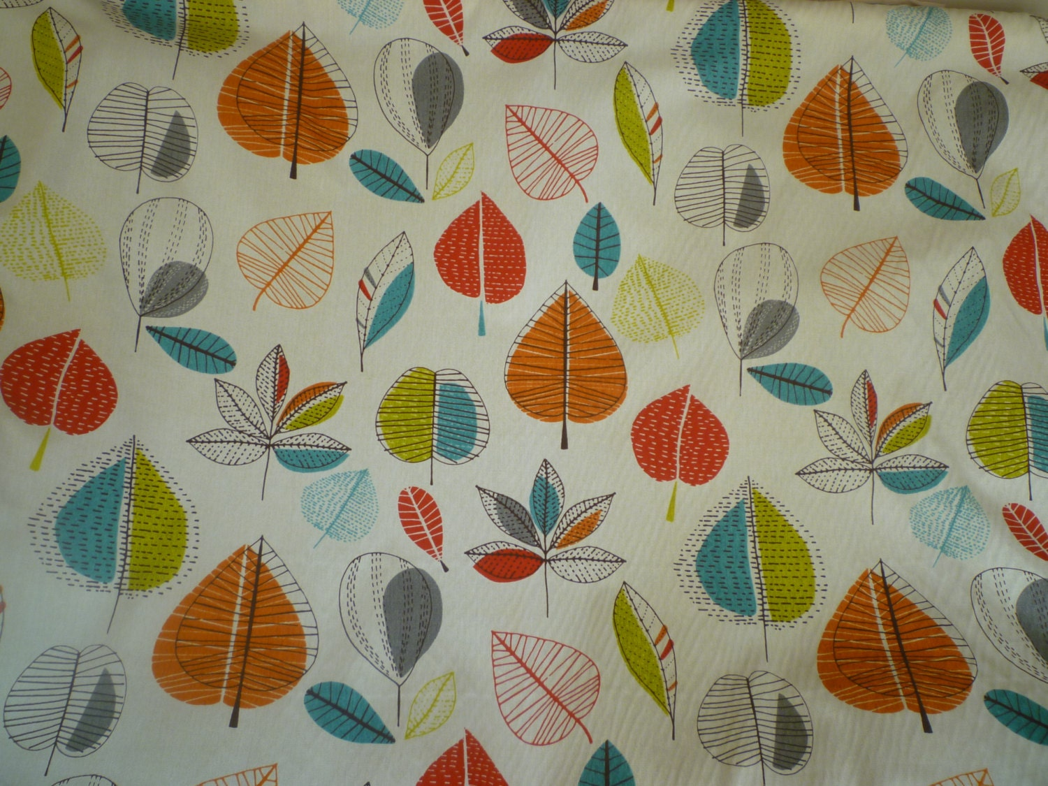 Orange Fabric Blue Red Green Funky UK Cotton Fabric per Metre (39 ...