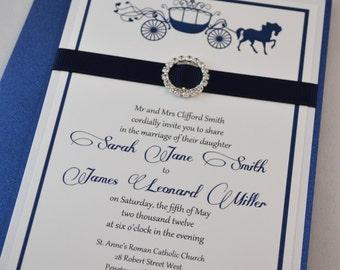 Printable PDF Fairytale Wedding Invitations for the DIY Bride