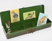 Vintage Rustic Green Tool Box